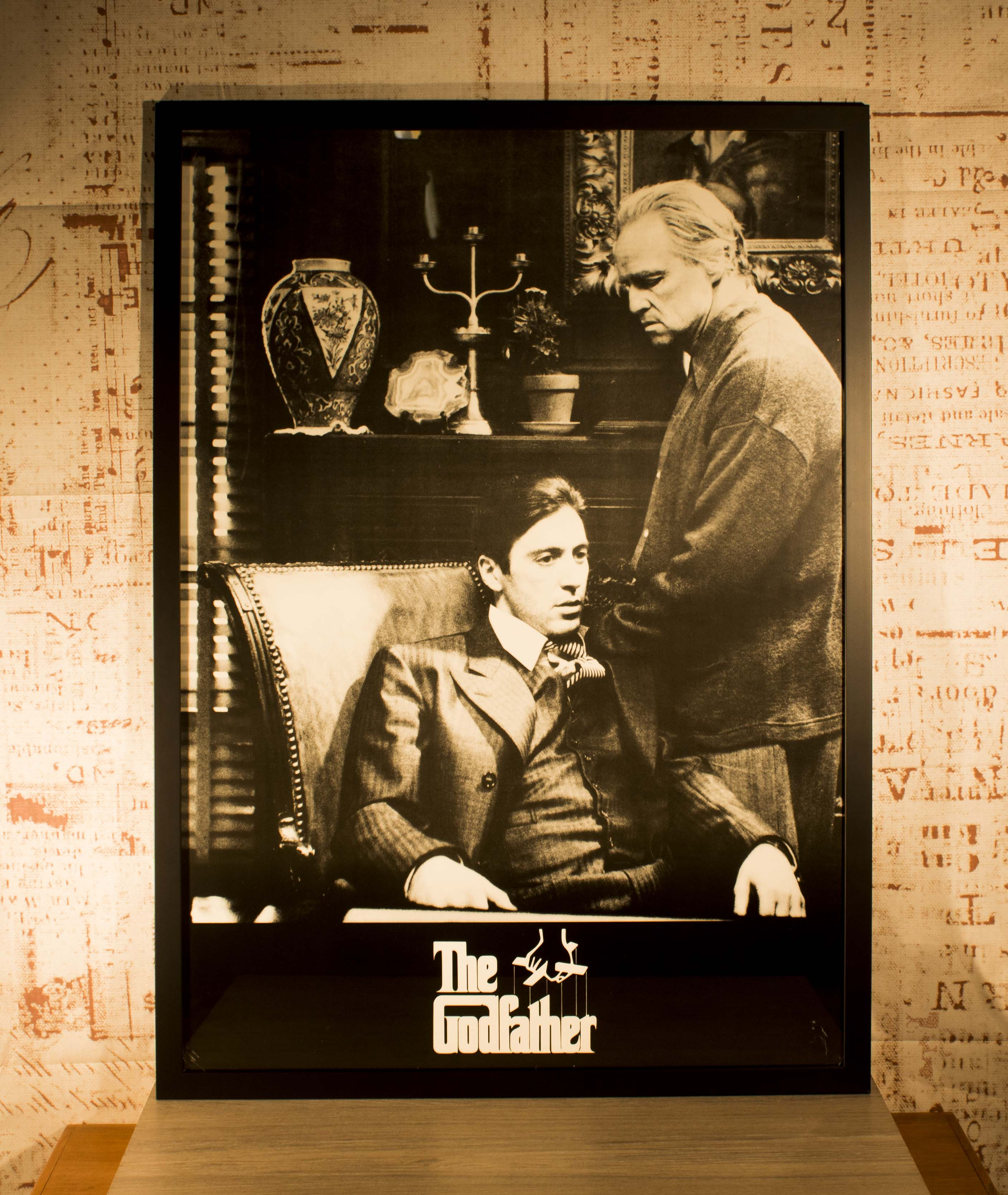 Iconic Framed ORIGINAL GODFATHER Poster in Bespoke Hand Crafted ...