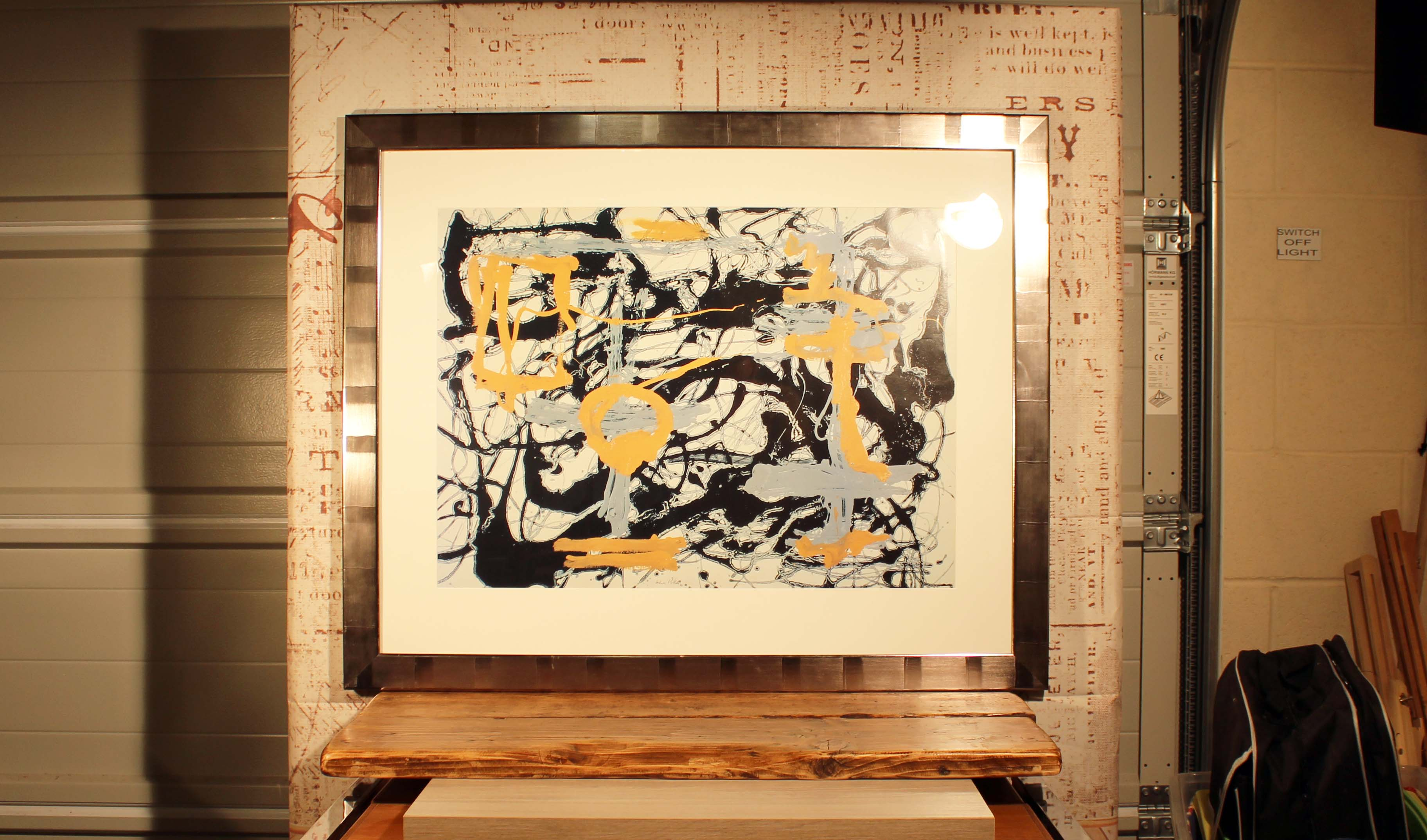 Jackson Pollock Quot Yellow Grey Black Quot Mounted And Framed