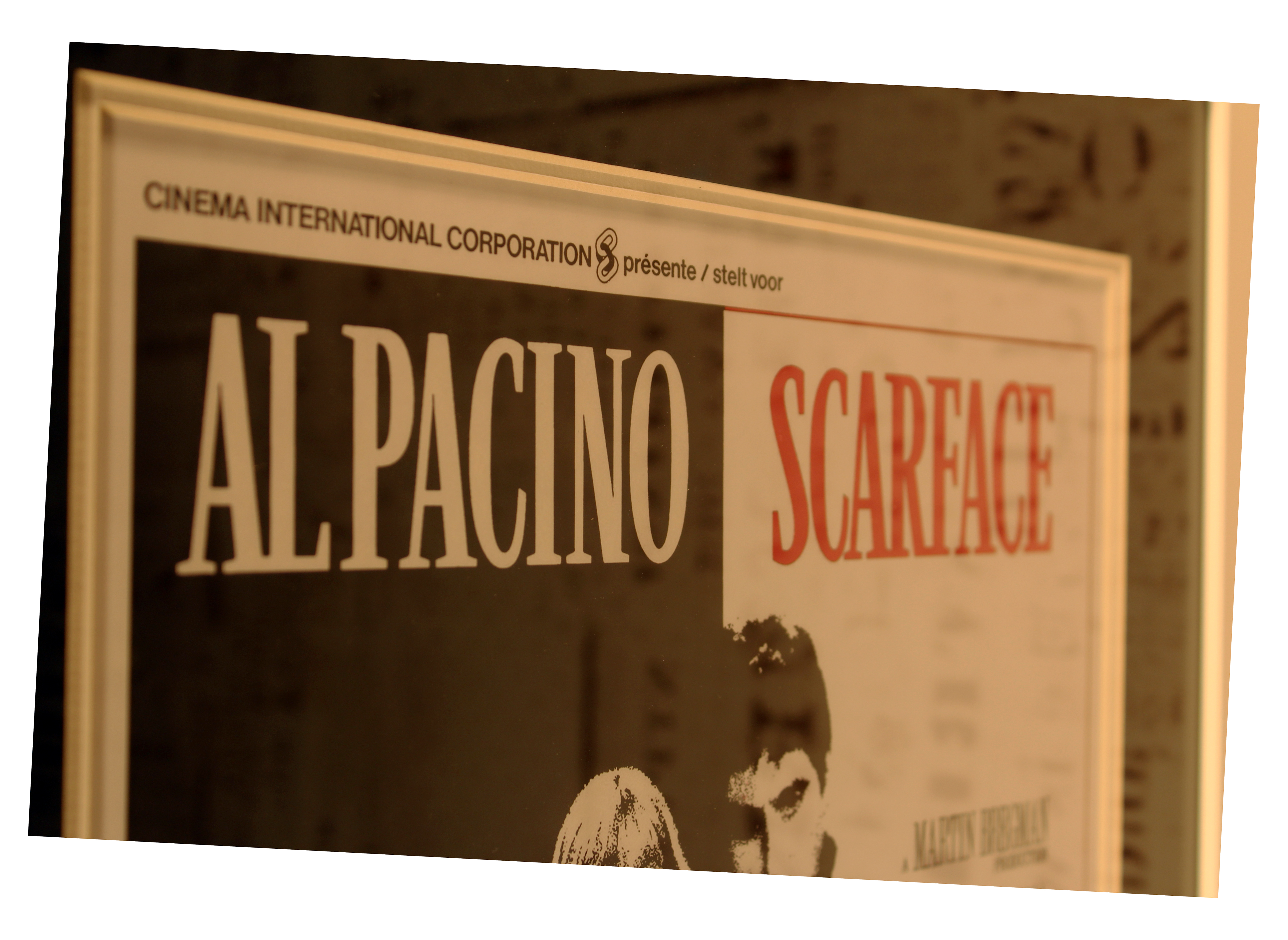 Iconic framed scarface poster in bespoke hand crafted mount iconic framed scarface jeuxipadfo Images