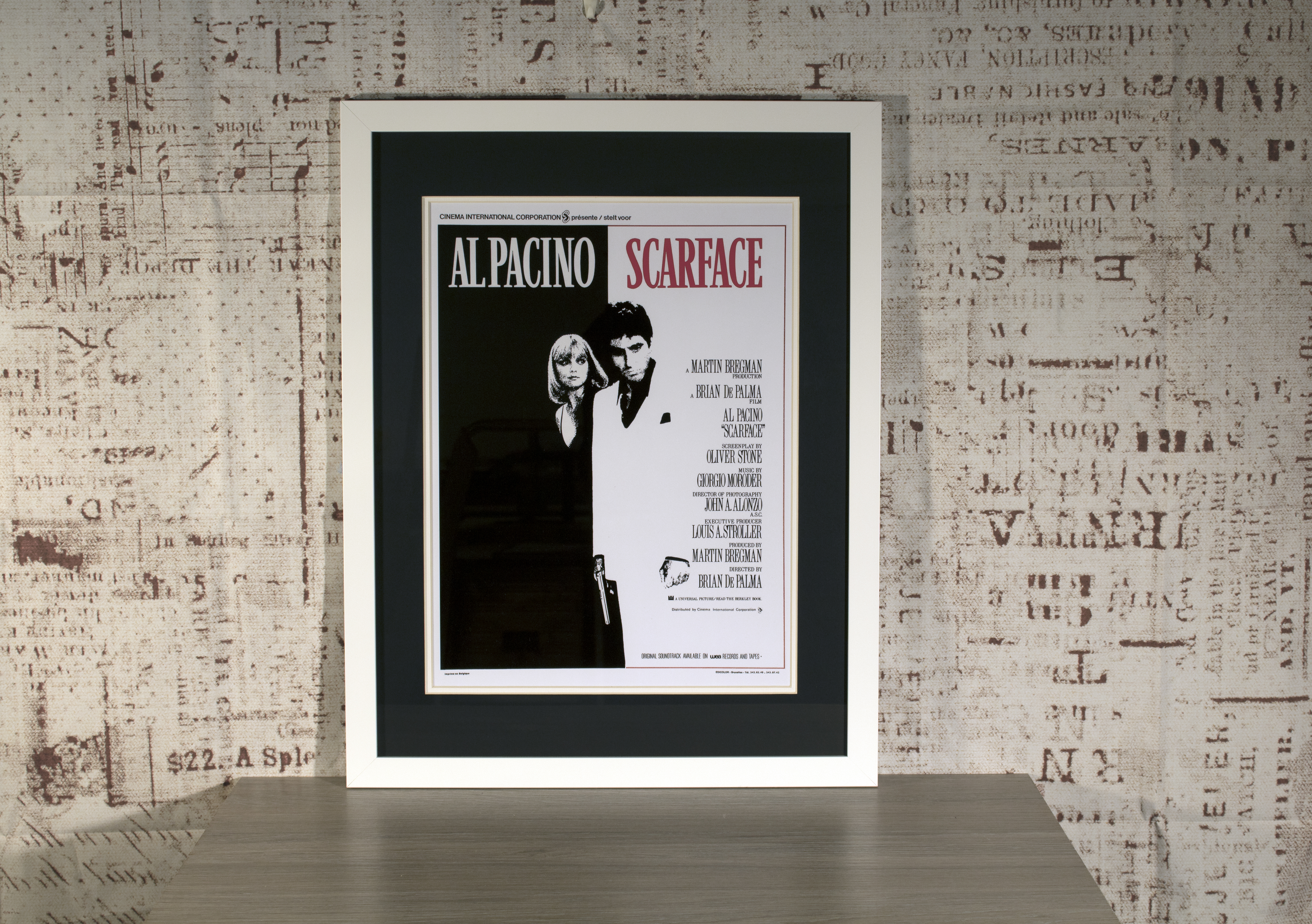 Iconic framed scarface poster in bespoke hand crafted mount iconic framed scarface poster in bespoke hand crafted mount frame jeuxipadfo Images
