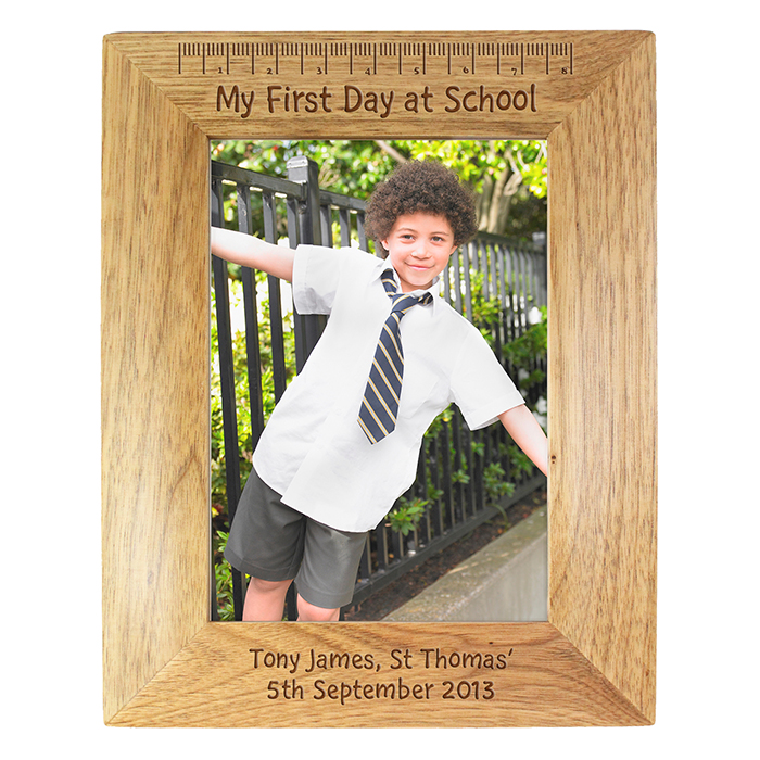 Personalised My First Day At School 6x4 Wooden Frame - JJ Crafting