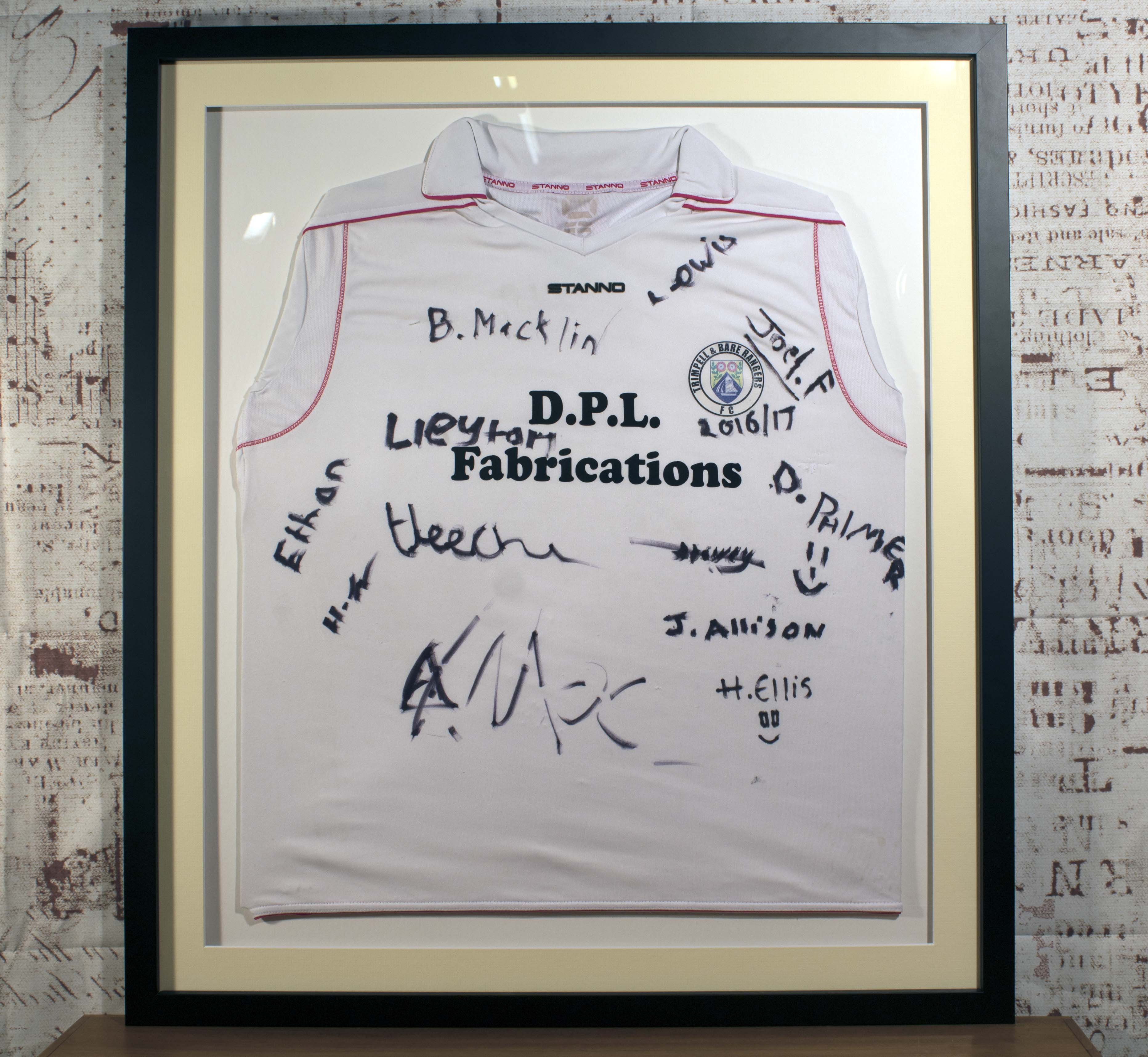 Football/Sports Shirt Framing Service - Trimpell and Bare Rangers ...