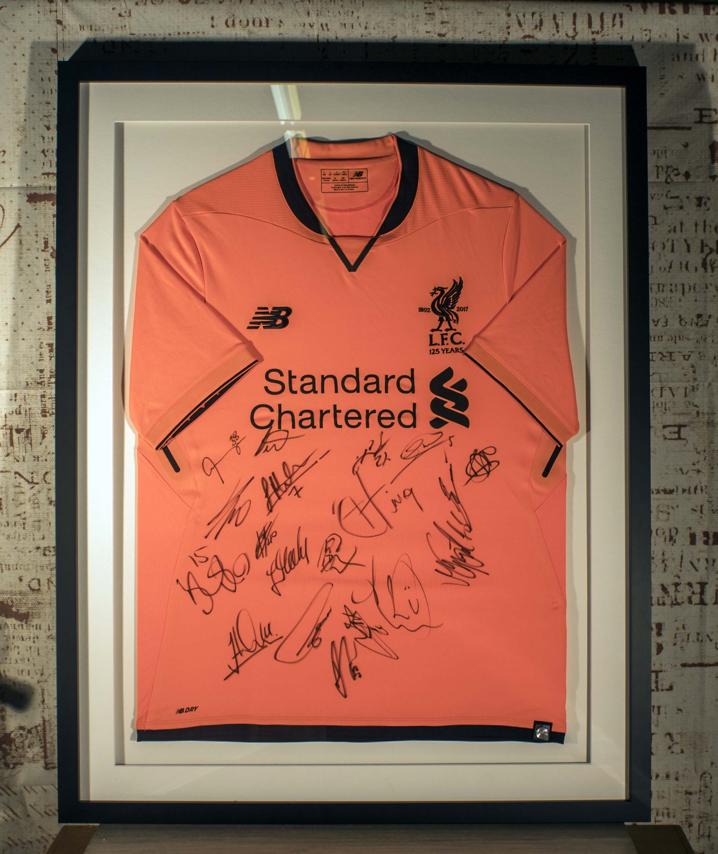 Football Sports Shirt Framing Service Signed Liverpool
